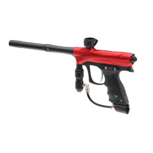 Comfort is not sacrificed for performance with the Rize Red Dust Marker. The Dye UL Hourglass 45 frame, dual density sticky grips, no slip reg sleeve, adjustable aluminium trigger and low-profile balanced design, lets you naturally control and aim the Rize with all day comfort.