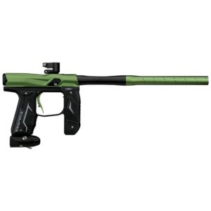 Empire Paintball now offers the next generation of the impressive Axe marker; the AXE 2.0 Dust Black & Green Paintball Marker. This new Axe features improved accuracy, lighter weight, a remodelled foregrip and increased resistance to weather.