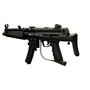 "The Empire BT Delta Paintball Gun is built to the same superior quality standards and workmanship that Empire has always been known for. Empire Paintball has built its reputation making tough ""Battle Tested"" paintball markers and accessories. With ""Out of the Box"" upgrades like a collapsible stock and removable mag, the Empire Delta paintball gun is a great choice for players of any skill level."