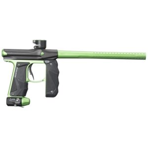 The EMPIRE Mini GS Marker Dust Black & Neon Green is the next generation of a paintball marker legend. The team at Empire has taken the proven Mini marker platform and designed and developed it to be even better. In addition to the battle proven Mini engine the GS includes a full wrap-around rubber foregrip that creates a secure grip and protection from paint and the elements.