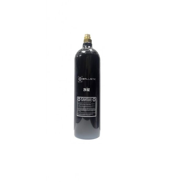 This paintball CO2 24oz tank is ideal for all levels of play. This tank assures a consistent recharge rate for maximum shooting efficiency.