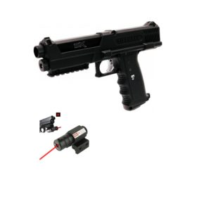 The TIPX Pistol is a great solo marker or tactical backup sidearm, adding a new dimension to your game. The TIPX also features an under-barrel Picatinny rail, external velocity adjuster, clear ammo windows so you can see if it's loaded, removable barrel with A5 threads, ability to add a remote line, foam lined hard shell carry case and Tippmann's World Class 2-year Warranty.
