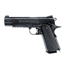The AIRSOFT GUN 1911 TAC CAL 6MM 100 BBS 2.5955 for ELITE FORCE This 1911 Tac, is a modern version of the famous army pistol, is uncompromisingly trimmed to practical use: