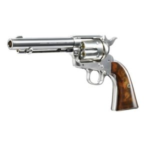 The famous Wild West revolver is now available in an airsoft version; the AIRSOFT GUN LEGENDS WESTERN COWBOY NICKEL FINISH 2.6329 is Nickel-plated and weighing almost 900 grams,