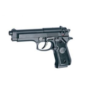 The AIRSOFT PISTOL M92 HW SPRING based on the classic M92F pistol is used by the US armed forces and is a very popular Airsoft pistol due to its massive presence in action movies. This heavyweight spring pistol comes with fixed Hop-up and the magazine holds 25 BB's.