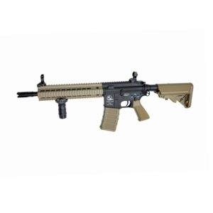 The AEG SLV ARMALITE M15 ASSAULT TAN AIRSOFT RIFLE Introduces a new series of great valued airsoft guns with authentic Armalite markings, and in a variety of configurations to provide the players with more options regarding looks and functionality.