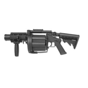 This Multiple Grenade Launcher from ASG is a lightweight 6 shot 40mm Airsoft grenade launcher.