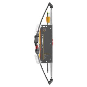 CHAMELEON YOUTH COMPOUND BOW 10LB BLACK LIMBS RED RUBBER - EK ARCHERY