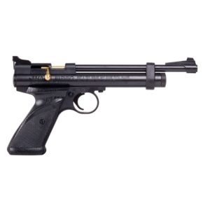 This CR2240 CO2 AIR PISTOL.22 calibre air pistol features an improved bolt design for easier cocking and loading. The rifled steel barrel provides greater accuracy and CO2 power provided by the 12-gram Power let provides 460 feet per second of power.