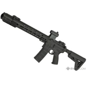 The EMG SAI GRY AR-15 AEG TRAINING RIFLE WITH JAIL BREAK & RED DOT OPTIC boast Salient Arms International (SAI), a cutting edge and innovative forerunner in the firearms industry based out of Las Vegas, Nevada, provides expert gun smith services for a wide range of firearms.