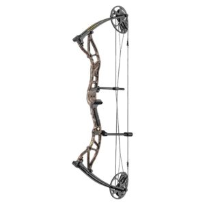 This Exterminator Compound Bow 15-70lb Folium Camo Riser compound from EK Archery only includes the bow.