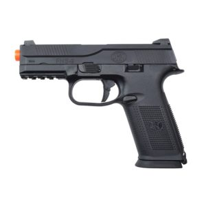 This FNS-9 GAS BLOWBACK AIRSOFT PISTOL is an excellent 1:1 scale replica sidearm featuring fully licensed FN Herstal trademarks. It's aluminium alloy slide and nylon polymer lower frame are manufactured for maximum durability and performance