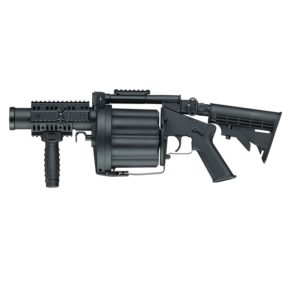 The MGL BLACK ELECTRIC GRENADE LAUNCHER is the ultimate airsoft multiple grenade launcher, a 1:1 reproduction of the well-known Milkor MGL.