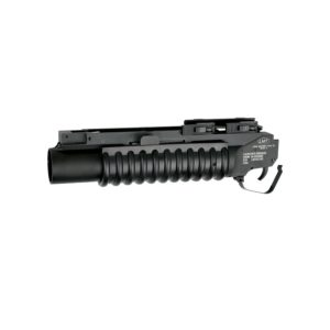 The M203 grenade launcher, with authentic look and feel, it operates like the real thing in every way, from loading the grenades to extracting them after use. The M203 is one of the most recognizable grenade launchers, this short-barrel launcher