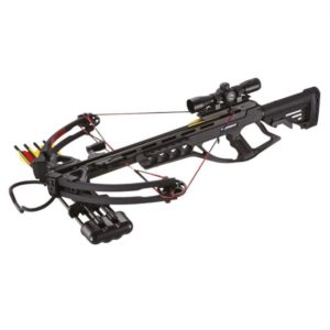 The 185 lbs compound crossbow XB55 crossbow impresses with a modern and sleek design. It has Picatinny & Weaver rails, so you can add optional sights & accessories like bi-pods and lasers