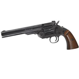 The Schofield revolver 6″ 4.5MM BLACK is a part of the history of firearms. A weapon powered by 12-gram CO2 capsules that is an ultra-realistic replica of the famous revolver used by many of the great gunmen of the Old West.