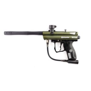 The Spyder VICTOR Olive Green paintball marker features the latest technology and materials available, including the innovative Eko™ Valve which offers the most extreme air efficiency available in the paintball market.