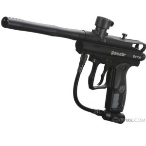 The Spyder VICTOR Black paintball marker features the latest technology and materials available, including the innovative Eko™ Valve which offers the most extreme air efficiency available in the paintball market.