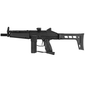 The STRYKER MP1 - Paintball Gun features a fully Electro-Pneumatic design that makes it one of the quietest and smoothest shooting spool-valve Tippmann markers ever designed.