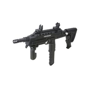 The Tactical Compact Rifle or TCR Magfed Marker provides a new level of realism to your paintball play. It comes with two magazines: a 12 Ball Extended Mag and a 7 Ball Mag.