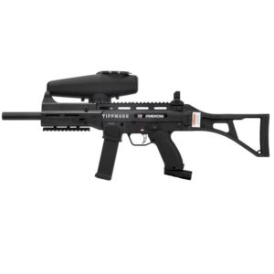 The X7 Phenom .68 caliber marker features Picatinny rails to easily add sights, handles or other accessories. It comes with a modular foregrip, removable front & rear sights, and quick release magazine with built-in tool storage.