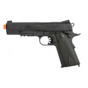 The UA958BH Spring pistol features a M9 design and is black in colour.