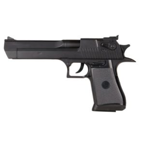 The UA961BH Spring pistol features a Dessert Eagle design and is black in colour.