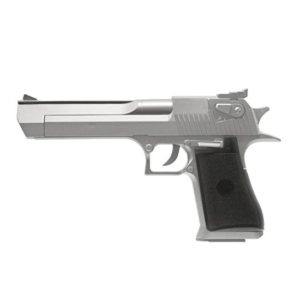 The UA961BH Spring pistol features a Dessert Eagle design and is Silver in colour.