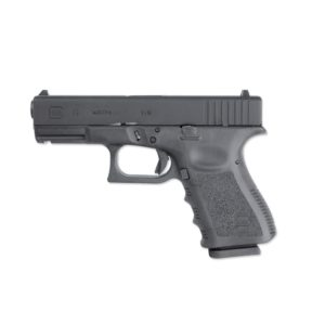 The GLOCK 19 PISTOL REPLICA 2.6413 is a perfectly made replica of the Glock 19 pistol manufactured by Umarex. It has a licensed Glock trademark, and a unique serial number.