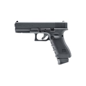 The Airsoft Gun GLOCK 17 Gen4 cal. 6 mm BB 2.6415 is a licensed replica with all the features, of the original GLOCK 17. With the resemblance increased by the heavy metal slide and blowback for a powerful recoil .