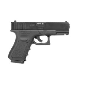 The Airsoft Gun GLOCK 19 little brother of the GLOCK 17 comes on strong. Measuring 186 mm in length, this CO2 airsoft version of the GLOCK 19 packs high performance into a small space.