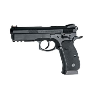 The CZ SP-01 SHADOW, by ASG is an exciting CO2 poweredairgun. It is based on the latest generation of pistols from CZ, designed from input provided by Law Enforcement, Military and Police communities worldwide, and with additional input from the world premier shooters of Team CZ. This non-blowback pistolis lightweight and easy to operate, the ergonomic grip with checkered rubber grip panels make it fit extremely well in the hand. It features a fiber optic front sight and an accessory rail.