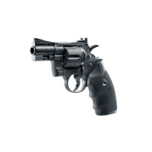 The COLT PYTHON 2.5-inch PELLET/BB - 5.8147 AIR PISTOL by Umarex boasts a pellet magazine from metal and a BB magazine from polymer also included is an adjustable rear sight for windage and elevation