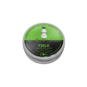 COAL FIELD PELLETS 4.5MM 200PCS with a domed head is intended for outdoor disciplines such as field target, but it is also usable for hunters and hobby shooters. Designed with wadcutter rim. Very accurate pellets for medium and long-range, maximum initial velocity, excellent shot group.