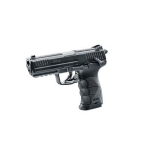 This is the authentic licensed replica from Umarex of the popular HK45 firearm.This HK45 CO2 BB air pistol shoots BBs at 400 FPS and includes a 20 round magazine for semi-auto operation.