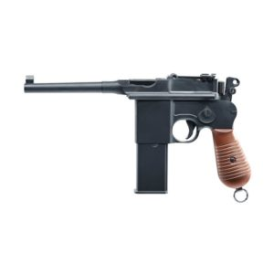 Umarex has brought out a CO2 variant of the Mauser C96; in honour of this classic semi-automatic pistol.Complete with a blow back system & technical features that will capture the imagination of recreational shooters.