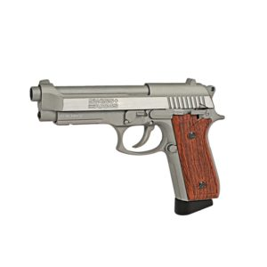 This SA92 CO2 STAINLESS PISTOL from Swiss Arms; is a fun gun. It is accurate, has a reliable mag and feels like a model 92 firearm. This is not a lightweight gun, it actually weighs a bit more than the firearm when loaded with a CO2 cartridge and BBs. The gun comes with two CO2 cartridge caps; theCO2 cartridge cap connects with the bottom of the CO2 cartridge (which is in the magazine) and is used to screw in the cartridge so it's properly pierced.