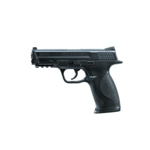 Umarex released the SMITH & WESSON M&P 40 in reaction to changing military and police requirements; Smith&Wesson® reactivated its traditional Military and Police line and expanded it considerably. This CO2 pellet gun version of the M&P has a DAO trigger mechanism and is capable of rapid fire thanks to its optimum hand position. This M&P 40 boast a metal slide and original surface texture which gives this replica an authentic feel.