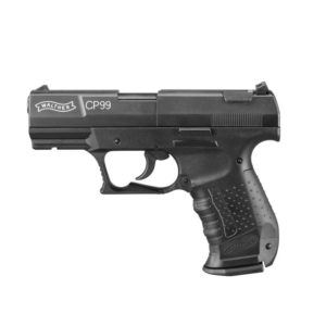 The Walther CP99 from Umarex convinces in its different version and appeal to police units, sports guards & collectors worldwide. The technical specifications of the original weapon's release pad, two-sided magazine holder & interchangeable handle grips. Matched with the innovative features of the CO2 variant, enable authentic training & shooting.