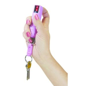 The1/2 OUNCE PEPPER SPRAY from PSP comes with a clip and a handy keychain. They are perfect for personal defense because they are very effective, yet non-lethal and has an effective range of 12-15 ft., depending on the model. Available in 2%, 10% and 15% formulas, 2 million Scoville heat units. Pepper Spray is great for defending yourself against not only human attackers, but also wild animals. With maximum strength, contents this item is especially effective against, muggers, carjackers, vicious animals and more. The size is super compact and fits in a purse, briefcase, glove box and even on a keychain.