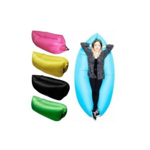 """Ready for summer, these inflatable air couches provides the perfect lazy sofa for our hot summer days.Regardless of where you are or when you need a little """"me"""" time to rejuvenate yourself, the Inflatable Lazy Sofa is the absolute best thing to have with you.It's lightweight, extremely comfortable and a snap to set-up and use. You only need two scoops of air and you're ready for relaxation. No pumps needed! The Lazy Sofa can be deflated within seconds and is extremely easy to take with you thanks to the convenient carrying bag. Take it anywhere you want! The perfect buddy for all your outdoor activities such as travelling, festivals, beach trips, hanging out in the park and much more. Meanwhile the lightweight but strong and durable fabric will ensure that you can use it over and over again. Features You can sit on it, lay and relax or just lounge on it. A new alternative to the beanbag from the past. Water and """"wipe clean"""" stain resistant heavy duty Nylon. Portable Comfortable Quick & easy setup No Pump needed Carry-bag included Ideal on the beach, the swimming pool, take it with when you go fishing, camping, hiking and just about anywhere Available in the following colours Black Green Orange Blue Purple Red Pink Yellow"""